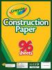 "96 Sheets - Crayola Construction Paper Pad 9""X12"""