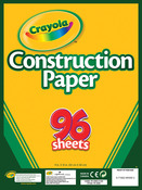 "96 Sheets - Crayola Construction Paper Pad 9""X12"""