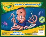 """60 Sheets - Crayola Marker & Watercolor Pad 10""""X8"""""""
