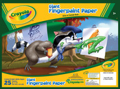 """Crayola Fingerpaint Paper Pad 16""""X12"""""""