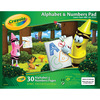 30 Sheets - Crayola Alphabet & Numbers Pad 10 X8  CRAYOLA-Beginning Tablet: ABC's. This is the perfect way for kids to learn their ABC's and 123's! This package contains one 10x8 inch 30 sheet of paper pad. Nontoxic. Made in USA.
