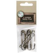 """2"""" - Antique Safety Pins 6/Pkg"""