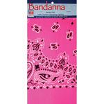 "Pink Paisley - Neon Bandannas 22""X22"""