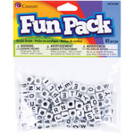 Square White 85/Pkg - Fun Pack Acrylic Alphabet Beads