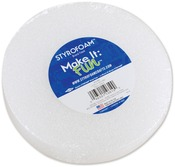 "White - Styrofoam Disc 5-7/8""X1-3/16"" 1/Pkg"