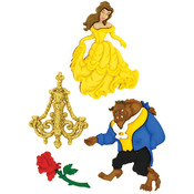 Dress It Up Licensed Embellishments - Disney Beauty And The Beast
