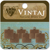 Square Tag 9mm - Vintaj Metal Altered Blanks 6/Pkg