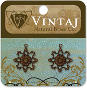 Filigree Sunflower 20mm - Vintaj Metal Accents 2/Pkg