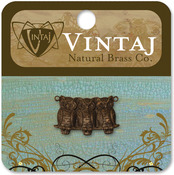 Perched Owls 22mmX11.5mm - Vintaj Metal Accent 1/Pkg