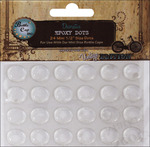"Round - Vintage Collection Epoxy Dots .5"" 24/Pkg"
