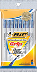 Blue - Bic Ultra Round Stic Grip Ball Pens Medium Point 8/Pkg