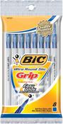 Blue - Bic Ultra Round Stic Grip Ball Pens Medium Point 8/Pkg