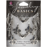Mixed Shapes Silver 12/Pkg - Jewelry Basics Metal Charms