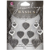 Heart Silver 10/Pkg - Jewelry Basics Metal Charms COUSIN-Jewelry Basics: Metal Accent Charms. Making your own custom jewelry pieces is easy when you have beautiful component pieces to inspire you! The Jewelry Basics collection of beads can be mixed and matched in countless ways to create fantastic necklaces, bracelets, earrings, and matching sets. The beads are available in a wide range of styles, colors, and sizes so finding something that fits your style is a snap. This package contains one or more metal accent charms. Imported.