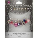 Purple Glass/Metal Bead Cluster 12/Pkg - Jewelry Basics Metal Charms