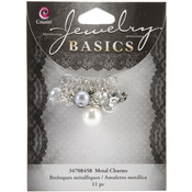 Smoke Glass/Metal Bead Cluster 11/Pkg - Jewelry Basics Metal Charms