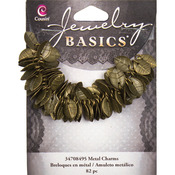 Gold Leaves 115/Pkg - Jewelry Basics Metal Charms