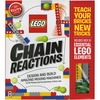 Lego Chain Reactions Book Kit Klutz-Lego Chain Reactions Book Kit. Make amazing moving machines in Lego Chain Reactions! Children can build eight simple machines that can be combined to set off a chain reaction. They can use all the included Lego pieces in conjunction with their own collection to build the contraptions and record all their experiments in the pages of the book. This book contains instructions and inspiration for creating Lego chain reactions. Includes thirty-three Lego elements, six Lego balls, 2.2 yards of string, eight paper ramps, two paper pop-up signs, one paper funnel, one paper flag, one paper bucket and one platform. Author: Pat Murphy. Spiralbound; 48 pages. Published Year: 2014. ISBN 978-0-545-70330-7. Imported.