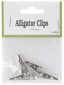Silver - Alligator Clips 4/Pkg