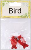 """Cardinal - Mushroom Birds 1"""" 2/Pkg"""