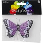 """Deep Purple - Butterfly W/Wire Pick 4"""" 1/Pkg"""
