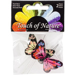 "Hot Pink & Yellow - Butterfly W/Wire 1.75"" 2/Pkg"