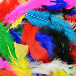 Assorted Colors - Fluffy Marabou Feathers 34 Grams