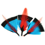 "Black/Turquoise/Red - Feather Picks 3"" 3/Pkg"