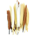 "Earth Mix - Duck Quill Feathers 3"" 24/Pkg"