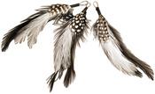 "Black/White - Feather Picks 5"" 3/Pkg"