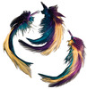 "Gold/Teal/Deep Plum - Feather Picks 5"" 3/Pkg"