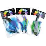 "Assorted Blue/Green/Purple Guinea - Feather Picks 6""-7"" 2/Pkg"