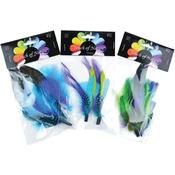 "Assorted Blue/Green/Purple Guinea - Feather Picks 6""-7"" 2/Pkg"