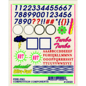 "Numbers & Letters - Pine Car Derby Decal 5""X4"""