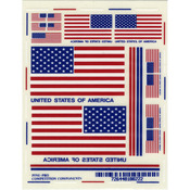 "USA Flags - Pine Car Derby Decal 4.875""X3.875"""