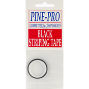 "Black - Pine Car Derby Pinstripe .1875""X120"""