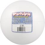 "White - Smooth Foam Balls 6"" 1/Pkg"