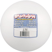 "White - Smooth Foam Balls 6"" 1/Pkg"