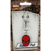 Spiderman Mask - Marvel Zipper Pull