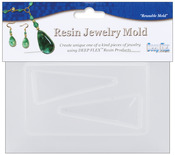 """Triangle - Resin Jewelry Reusable Plastic Mold 3.5""""X4.5"""""""
