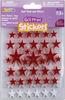 Stars-Red/White - Foam Glitter Stickers 62/Pkg