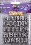 Alphabet-Silver - Foam Glitter Stickers 55/Pkg