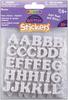 Alphabet-White - Foam Glitter Stickers 55/Pkg
