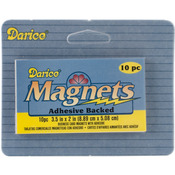 "2""X3.5"" 10/Pkg - Adhesive Magnetic Sheet"