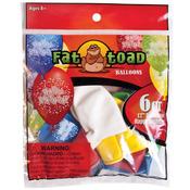 "Birthday Confetti - Fat Toad Deco Latex Balloons 12"" 6/Pkg"