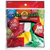 "Birthday Stars - Fat Toad Deco Latex Balloons 12"" 6/Pkg"