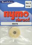White - Nymo Thread .20X72yd