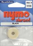 Black - Nymo Thread .20X72yd