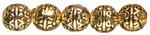 Gold Scroll - Jewelry Basics Metal Beads 8mm 24/Pkg