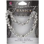 Silver Puffed Heart - Jewelry Basics Metal Beads 9mm 36/Pkg